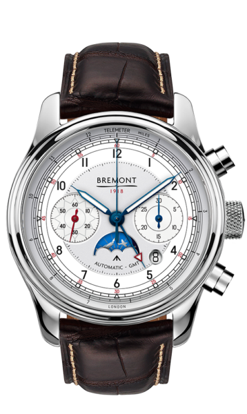 Bremont 1918 Stainless Steel Watch Front View