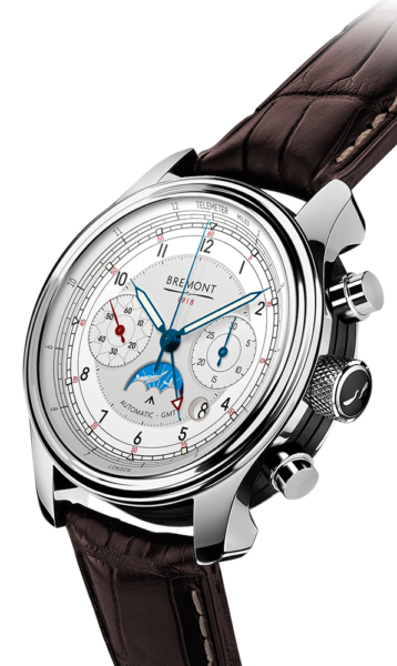 Bremont 1918 Stainless Steel Watch Side View