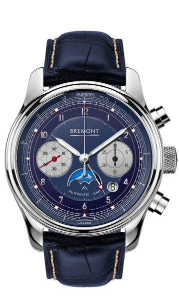 Bremont 1918 White Gold Watch Front View