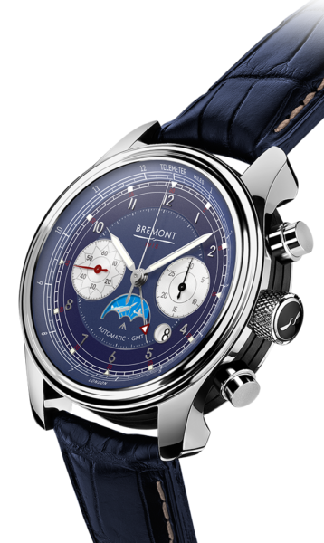 Bremont 1918 White Gold Watch Side View
