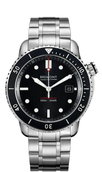 Bremont S500 Bk Br 18 Watch Front View