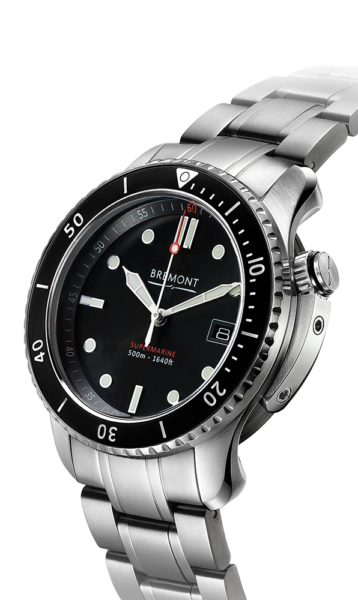 Bremont S500 Bk Br 18 Watch Side View