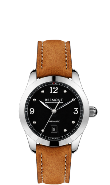 SOLO 32 AJ BK Tan Watch Front View