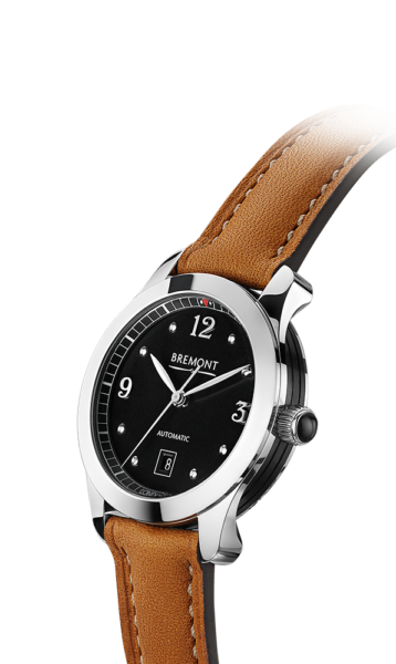SOLO 32  AJ BK Tan Watch Side View