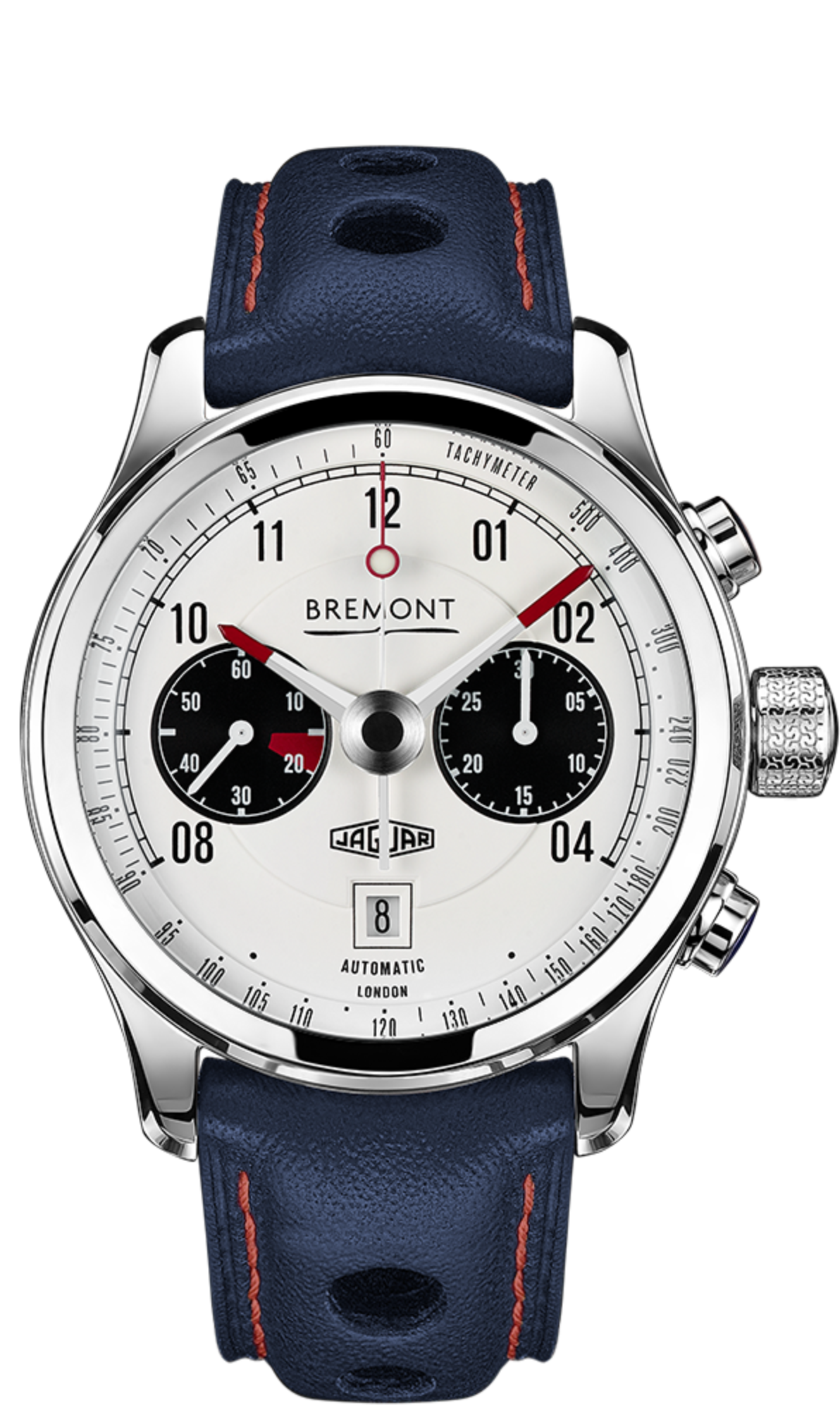 Bremont MKII Jaguar Chronograph Watch, Racing Watches, Leather Strap, Automatic Watch